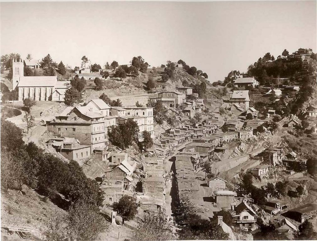 Murree Bazaar & Church 1865