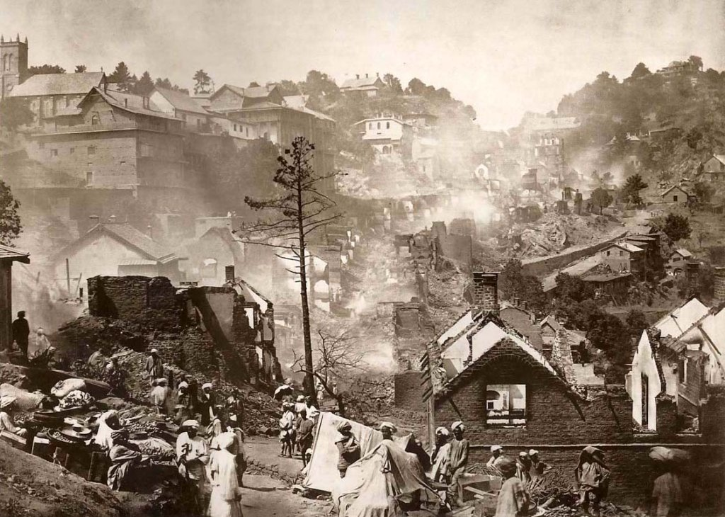 Murree bazaar after the Fire of 1875