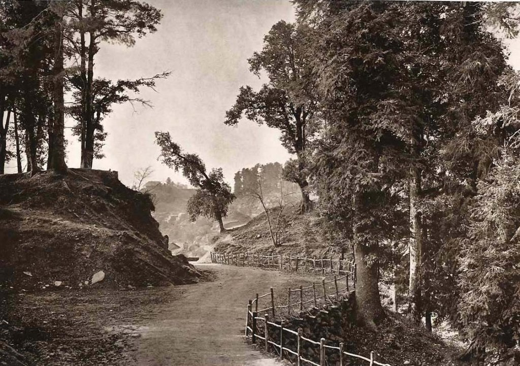 Mall Road Murree looking South 1861