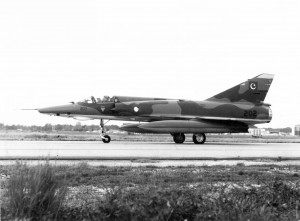 Mirage IIIRP 67-202, one of the first three recce version Mirages ready for its ferry flight from France
